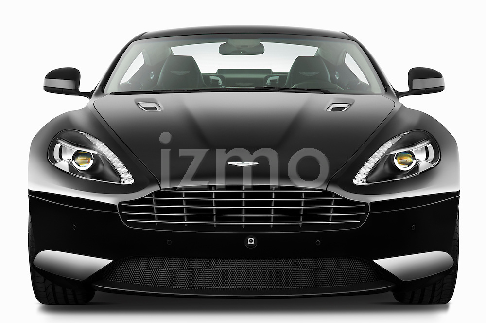 Straight front view of a 2012 Aston Martin Virage