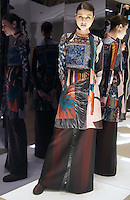 Model in Look 9: Autumn Stripe Dress, Autumn Stripe Top, Striped Suiting Pant