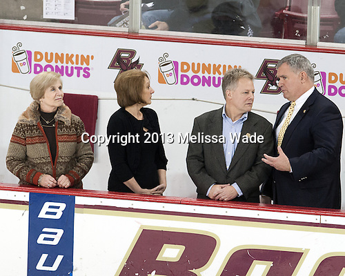 Amanda Mullane, Cherylann Whitney, John Whitney, Steve Wey - The visiting Providence College Friars defeated the Boston College Eagles 5-1 on BC's senior night, Saturday, March 2, 2013, at Kelley Rink in Conte Forum in Chestnut Hill, Massachusetts.