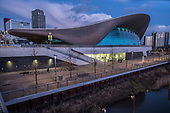 The Zaha Hadid Aquatic Centre, Queen Elizabeth Olympic Park, Stratford.