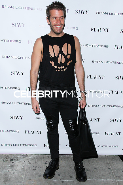 NEW YORK CITY, NY, USA - SEPTEMBER 03: Perez Hilton arrives at the Flaunt Magazine Distress Issue Launch held at Gilded Lily on September 3, 2014 in New York City, New York, United States. (Photo by Jeffery Duran/Celebrity Monitor)