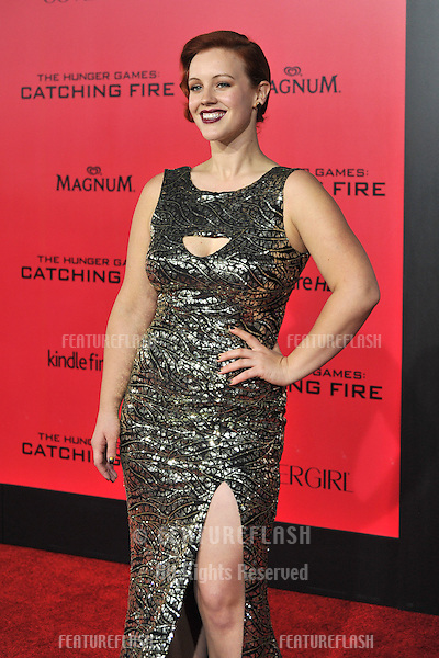 Bruce Bundy at the US premiere of her movie &quot;The Hunger Games: Catching Fire&quot; at the Nokia Theatre LA Live.<br /> November 18, 2013  Los Angeles, CA<br /> Picture: Paul Smith / Featureflash
