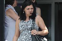 SANTO ANDRE, SP, 16 DE FEVEREIRO 2012 - JULGAMENTO LINDEMBERG ALVES - CASO ELOA -Irma de Lindemberg Alves deixa o Forum . (FOTO: ADRIANO LIMA - BRAZIL PHOTO PRESS).