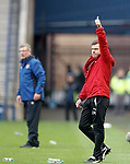Graeme Murty acknowleges the support from the Rangers fans