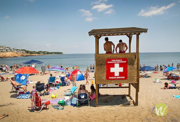 York Beach, ME. Lifeguards