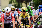 175 riders start Stage 6 of the 2019 Tour de France running 160.5km from Mulhouse to La Planche des Belles Filles, France. 11th July 2019.<br /> Picture: ASO/Pauline Ballet | Cyclefile<br /> All photos usage must carry mandatory copyright credit (© Cyclefile | ASO/Pauline Ballet)