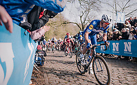Philippe Gilbert (BEL/Quick Step floors) up the Kemmelberg<br /> <br /> 81st Gent-Wevelgem in Flanders Fields (1.UWT)<br /> Deinze &gt; Wevelgem (251km)