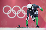 Simidele Adeagbo (NGR). Womens Skeleton training. Pyeongchang2018 winter Olympics. Olympic sliding centre. Alpensia. Pyeongchang. Republic of Korea. 07/02/2018. ~ MANDATORY CREDIT Garry Bowden/SIPPA - NO UNAUTHORISED USE - +44 7837 394578