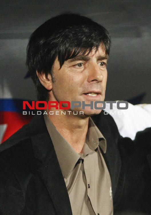 WM-Qualifikation 2010<br /> Lichtenstein : Deutschland<br /> <br /> Trainer Jochim L&ouml;w (Deutschland)<br /> <br /> Foto &copy; nph (  nordphoto  )