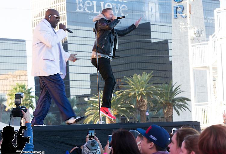 Macklemore & Ryan Lewis headline the Rock 'n' Roll Las Vegas Marathon & ½ Marathon to benefit the Crohn's & Colitis Foundation of America. The Grammy Award winners performed November 16 during the pre-race concert