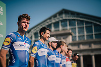 Fabio Jakobsen (NED/Quick-Step Floors) during the team presentation<br /> <br /> 98th Brussels Cycling Classic 2018<br /> One Day Race:  Brussels > Brussels (201km)