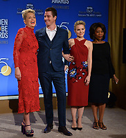 Sharon Stone, Garrett Hedlund, Kristen Bell &amp; Alfre Woodard at the nominations announcement for the 75th Annual Golden Globe Awards at The Beverly Hilton Hotel, Beverly Hills, USA 11 Dec. 2017<br /> Picture: Paul Smith/Featureflash/SilverHub 0208 004 5359 sales@silverhubmedia.com