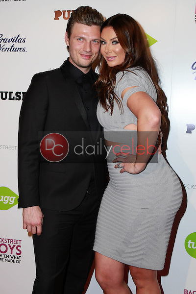 """Nick Carter, Lauren Kitt<br /> at the Backstreet Boys """"Show 'Em What You're Made Of"""" Premiere, Arclight, Hollywood, CA 01-29-15<br /> David Edwards/DailyCeleb.com 818-249-4998"""