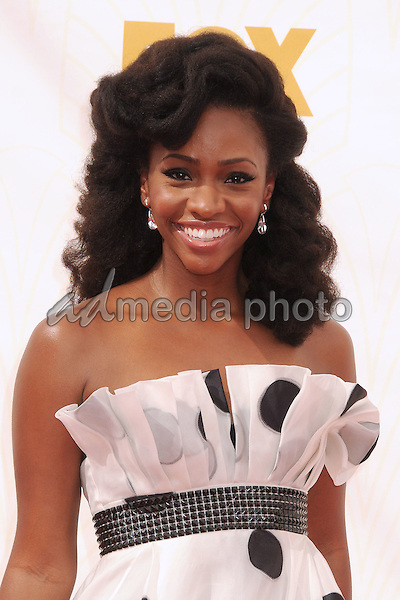 20 September 2015 - Los Angeles, California - Teyonah Parris. 67th Annual Primetime Emmy Awards - Arrivals held at Microsoft Theater. Photo Credit: Byron Purvis/AdMedia