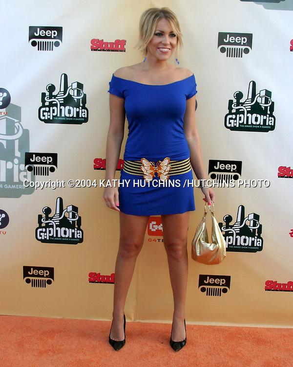 ©2004 KATHY HUTCHINS /HUTCHINS PHOTO.G-PHORIA  - The Award Show 4 Gamers.LOS ANGELES, CA.JULY 31, 2004..FARAH FATH