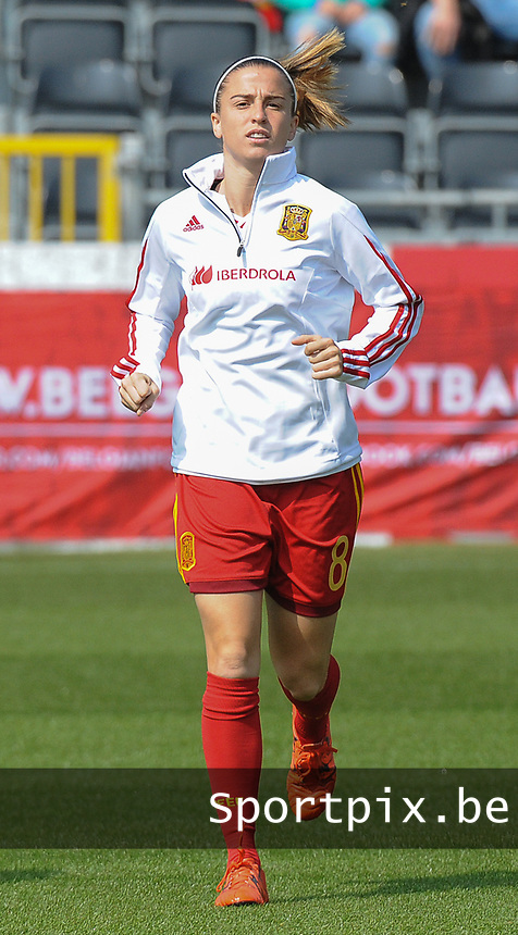 20170408 - EUPEN ,  BELGIUM : Spanish Barbara Latorre  pictured during the female soccer game between the Belgian Red Flames and Spain , a friendly game before the European Championship in The Netherlands 2017  , Saturday 8 th April 2017 at Stadion Kehrweg  in Eupen , Belgium. PHOTO SPORTPIX.BE | DIRK VUYLSTEKE