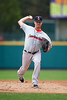 Pawtucket Red Sox pitcher Steven Wright (32) delivers a pitch during a game against the Rochester Red Wings on July 1, 2015 at Frontier Field in Rochester, New York.  Rochester defeated Pawtucket 8-4.  (Mike Janes/Four Seam Images)