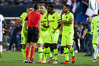 FC Barcelona players during the match between CD Leganes v FC Barcelona of LaLiga, date 6, 2018-2019 season. Municipal de Butarque Stadium. Madrid, Spain - 26 SEP 2018.
