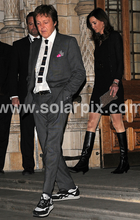 **ALL ROUND EXCLUSIVE PICTURES FROM SOLARPIX.COM**.**WORLDWIDE SYNDICATION RIGHTS** * .guests arrive for the 30 Days of Fashion and Beauty gala, as part of London Fashion Week, at the Natural History Museum in London, UK. 16th September 2008..This pic: Paul McCartney..JOB REF: 7372  SSD     DATE: 16_09_2008.**MUST CREDIT SOLARPIX.COM OR DOUBLE FEE WILL BE CHARGED* *UNDER NO CIRCUMSTANCES IS THIS IMAGE TO BE REPRODUCED FOR ANY ONLINE EDITION WITHOUT PRIOR PERMISSION*