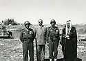 Syrie 1960?.A droite, Moustafa Jemil Pasha avec 2 generauxl.lors de la visite du roi Abdel Aziz d'Arabie Saoudite.Syrie 1960?.Right, Mustafa Jemil Pasha with 2 officers during the visit of King Abdel Aziz of Saudi Arabia