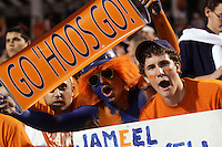Fans at a University of Virginia football game.