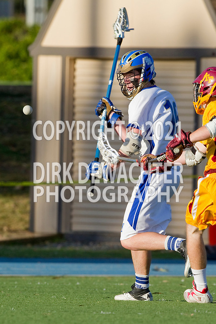 Rancho Santa Margarita, CA 04/30/10 - Garrett Parsons (Santa Margarita #16) in action during the Rancho Santa Margarita CHS-Torrey Pines boys varsity lacrosse game.