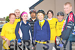 CYCLING FUN: Having a great time at the Charity Cycle in aid of the A&E at KGH l-r: Vicki Kerins, John O'Sullivan, Trish Murphy, Danakkrisna Vachalam, Eileen Fleming, Mairead O'Sullivan, Marie Towmey and Finbarr O'Mahony.
