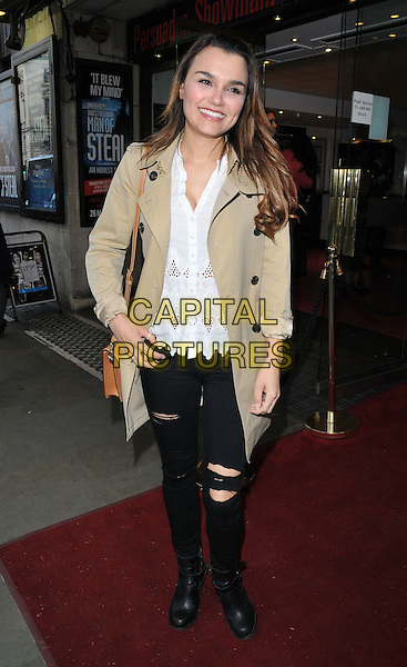 LONDON, ENGLAND - MAY 29: Samantha Barks attends the &quot;James Freedman: Man of Steal&quot; press night, Trafalgar Studios, Whitehall, on Friday May 29, 2015 in London, England, UK. <br /> CAP/CAN<br /> &copy;Can Nguyen/Capital Pictures