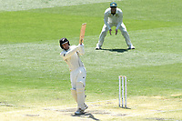 29th December 2019; Melbourne Cricket Ground, Melbourne, Victoria, Australia; International Test Cricket, Australia versus New Zealand, Test 2, Day 4; Tom Blundell of New Zealand pulls the ball on his way to scoring a century - Editorial Use
