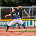 4 September 2017: Vermont Lake Monsters pitcher Wyatt Marks on the mound during the second game of a double-header against the Tri-City ValleyCats at Centennial Field in Burlington, Vermont. The Lake Monsters split their games, falling 6-5 in the first, then winning the second 7-4, thus clinching the NY Penn League Stedler Division Championship. Mandatory Credit: Ed Wolfstein Photo *** RAW (NEF) Image File Available ***