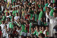 Mexican fans jeer and taunt United States Men's National team fans at Azteca stadium. The United States Men's National Team played Mexico in a CONCACAF World Cup Qualifier match at Azteca Stadium in, Mexico City, Mexico on Wednesday, August 12, 2009.
