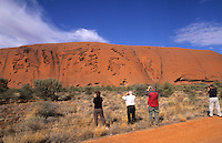Ayers Rock or Uluru, Australia Outback desert. Largest Monolith in the world.