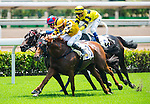Jockeys ride during the Seasonal Opening races of the HKJC 2015 at Sha Tin racecourse on September  6, 2015 in Hong Kong, Hong Kong.  Photo by Aitor Alcalde / Power Sport Images