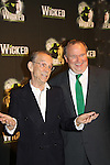 Joel Grey & Tom McGowan - 2 Wizards in Wicked - The blockbuster musical, Wicked, celebrates its 10th Anniversary on Broadway, a milestone achieved by only ten other Broadway productions in history on October 30, 2013 at the Gershwin Theatre, New York City followed by the red carpet at the Edison Ballroom with current, alumni and creative team.  (Photo by Sue Coflin/Max Photos)