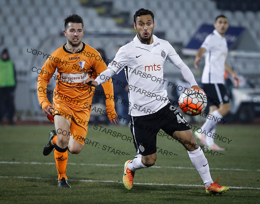 Fudbal Super League season 2016-2017<br /> Partizan v Spartak (Subotica)<br /> Leonardo and Nemanja Glavcic (L)<br /> Beograd, 15.12.2016.<br /> foto: Srdjan Stevanovic/Starsportphoto&copy;