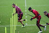 Alexander Meier (Eintracht Frankfurt) läuft schneller als die anderen Spieler - Eintracht Frankfurt Training, Commerzbank Arena