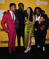 "27 September  2017 - West Hollywood, California - Utkarsh Ambudkar, Lonnie Chavis, Jay Pharoah, Cleopatra Coleman, Jacob Ming-Trent. World premiere of Showtime's ""White Famous"" held at The Jeremy in West Hollywood. Photo Credit: Birdie Thompson/AdMedia"