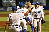 MONTERIA - COLOMBIA, 18-11-2019: Leones de Santa Marta y Vaqueros de Montería en el juego 1 de la serie 3 de la Liga Profesional de Béisbol Colombiano temporada 2019-2020 jugado en el estadio estadio Dieciocho de Junio de la ciudad de Montería. Victoria para Vaqueros por marcador de 7-9. / Leones de Santa Marta y Vaqueros de Monteria in match 1 series 3 as part Colombian Baseball Professional League season 2019-2020 played at Baseball Stadium on June 18 in Monteria city. Victory to Vaqueros by score of 7-9, Photo: VizzorImage / Andres Felipe Lopez / Cont