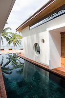 The contemporary villas that make up Iniala extend down to the beach separated by a series of pools and water features