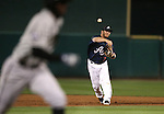 Reno Aces' Garrett Weber throws home in the first game of the PCL championship series against the Omaha Storm Chasers, in Reno, Nev., on Monday, Sept. 8, 2014. <br /> Photo by Cathleen Allison