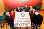 Pictured at the launch of the Year of Mercy at St. John's Parish Centre on Monday were, from left: Fr. Seamus Lennane, Norma Foley,  Ann O'Shea-Daly, Bill Looney, Fr. Peter Delimat, Conor Fitzgerald, Denis Kelliher, Fr. Francis Nolan and Fr. Bernard Healy.