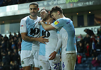 Blackburn Rovers' Derrick Williams, Blackburn Rovers' Bradley Dack and Blackburn Rovers' Richard Smallwood<br /> <br /> Photographer Rachel Holborn/CameraSport<br /> <br /> The EFL Sky Bet Championship - Blackburn Rovers v Sheffield Wednesday - Saturday 1st December 2018 - Ewood Park - Blackburn<br /> <br /> World Copyright © 2018 CameraSport. All rights reserved. 43 Linden Ave. Countesthorpe. Leicester. England. LE8 5PG - Tel: +44 (0) 116 277 4147 - admin@camerasport.com - www.camerasport.com