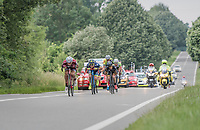 eventual winner Jos&eacute; Gon&ccedil;alves (POR/Katusha-Alpecin) and his breakaway gang laying low<br /> <br /> Ster ZLM Tour (2.1)<br /> Stage 4: Hotel Verviers &gt; La Gileppe (Jalhay)(190km)