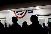 PHOENIX, ARIZONA, USA, 19/10/2016:<br /> People are watching the third debate between Donald Trump and Hillary Clinton, at the republican party headquarters.<br /> Arizona, traditionally very republican state, has become a swing state with both main candidates equally scoring in polls. (Photo by Piotr Malecki / Napo Images)