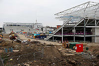 General view of Brentford's Community Stadium in Lionel Road, Brentford next to Kew Bridge Railway Station. The new Stadium is due to be completed by the Summer of 2020 and will be the home ground of Brentford FC and London Irish during Brentford vs Oxford United, Emirates FA Cup Football at Griffin Park on 5th January 2019