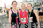 Sisters Karen, Trisha and Maria Bevan from Kenmare who participated in the Jack and Jill fun run on Saturday last.