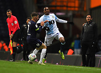 Blackburn Rovers' Amari'i Bell battles with Derby County's Harry Wilson<br /> <br /> Photographer Dave Howarth/CameraSport<br /> <br /> The EFL Sky Bet Championship - Blackburn Rovers v Derby County -Tuesday 9th April 2019 - Ewood Park - Blackburn<br /> <br /> World Copyright &copy; 2019 CameraSport. All rights reserved. 43 Linden Ave. Countesthorpe. Leicester. England. LE8 5PG - Tel: +44 (0) 116 277 4147 - admin@camerasport.com - www.camerasport.com