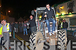 HOME COMING: Aeneas Horan Ardfert, Ploughing Society and Mikey O'Halloran, Ballyheigue Ploughing Society receiving a hero's weclome in Ballyheigue after their triumph in the Ploughing Championship on Friday.