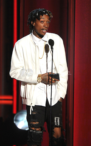 LAS VEGAS, NV - MAY 18: Wiz Khalifa appears on the 2014 Billboard Music Awards at the MGM Grand Garden Arena on Sunday, May 18, 2014 in Las Vegas, Nevada. PgMicelotta/MediaPunch