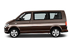Car Driver side profile view of a 2016 Volkswagen Caravelle Comfortline 5 Door Minivan Side View